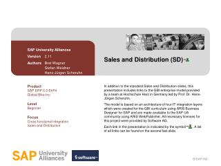 Sales and Distribution (SD)