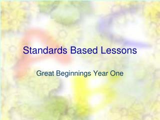 Standards Based Lessons