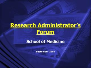 Research Administrator�s Forum