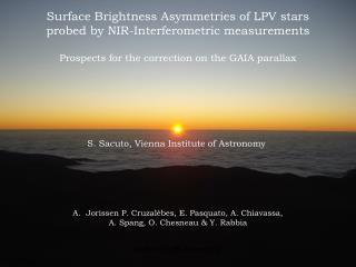 Surface Brightness Asymmetries of LPV stars  probed by NIR-Interferometric measurements
