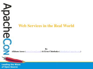 Web Services in the Real World By