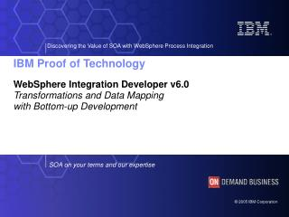 WebSphere Integration Developer v6.0 Transformations and Data Mapping  with Bottom-up Development