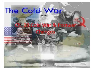Ch. 20 Cold War & Postwar Changes