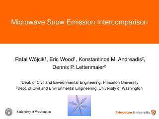 Microwave Snow Emission Intercomparison
