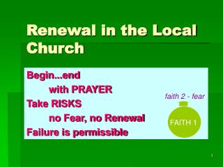 Renewal in the Local Church