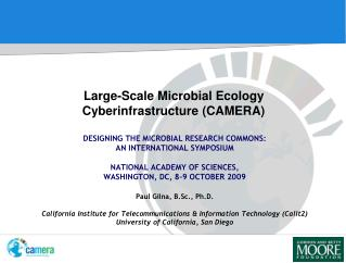 Large-Scale Microbial Ecology Cyberinfrastructure (CAMERA)