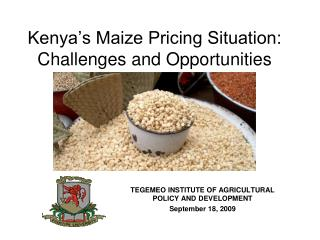 Kenya's Maize Pricing Situation: Challenges and Opportunities