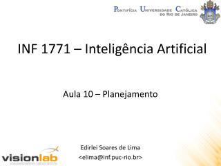 INF 1771 –  Inteligência  Artificial