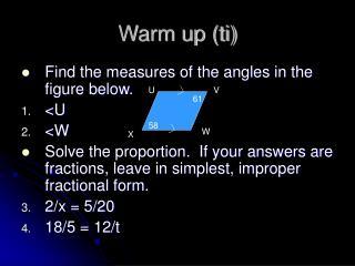Warm up (ti)