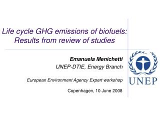 Life cycle GHG emissions of biofuels: Results from review of studies