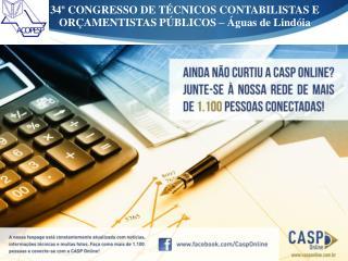 34º CONGRESSO DE TÉCNICOS CONTABILISTAS E ORÇAMENTISTAS PÚBLICOS – Águas de Lindóia