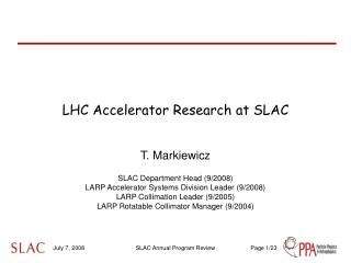 LHC Accelerator Research at SLAC