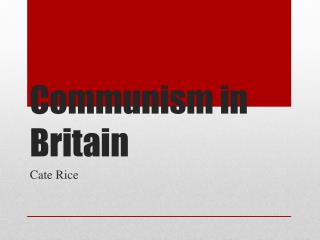 Communism in Britain