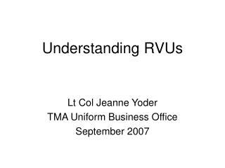 Understanding RVUs