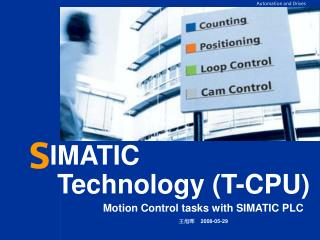 Motion Control tasks with SIMATIC PLC 王旭晖     2008-05-29