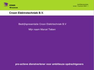 Croon Elektrotechniek B.V.
