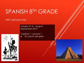 SPANISH 8 th  grade