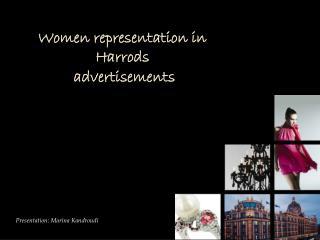 Women representation in Harrods  advertisements