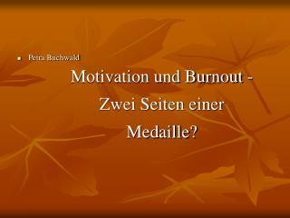 Motivation und Burnout -  Zwei Seiten einer Medaille?