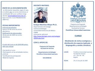 Programa de Posgrado  Departamento de Biología Facultad de Ciencias