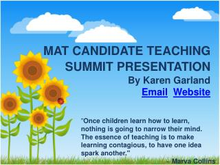 MAT CANDIDATE TEACHING