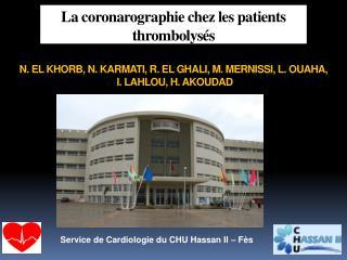 Service de Cardiologie du CHU Hassan II – Fès