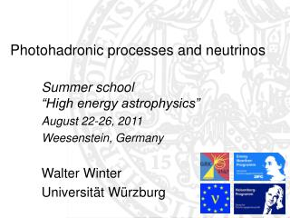 Photohadronic processes and neutrinos