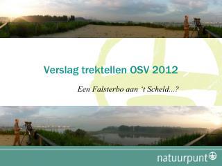 Verslag trektellen OSV 2012