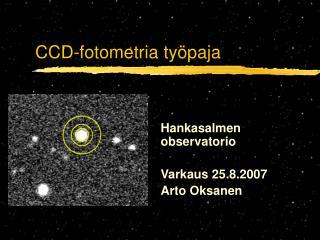 CCD-fotometria työpaja