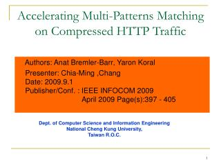 Accelerating Multi-Patterns Matching on Compressed HTTP Traffic