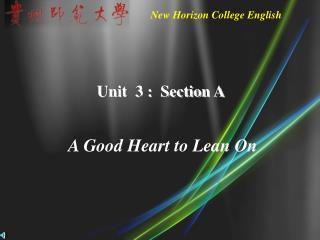 Unit  3 :  Section A