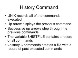 History Command
