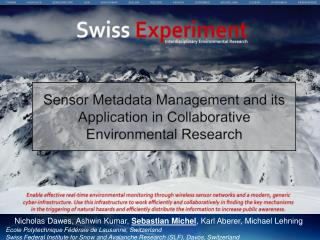 Sensor Metadata Management and its  Application in  Collaborative Environmental Research