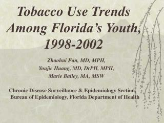 Tobacco Use Trends Among Florida's Youth, 1998-2002
