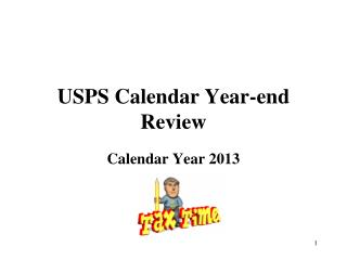USPS Calendar Year-end Review
