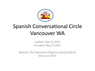 Spanish Conversational Circle Vancouver WA