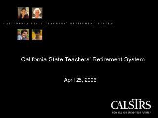 California State Teachers' Retirement System