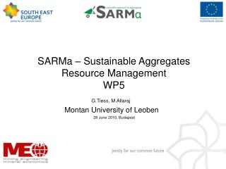 SARMa – Sustainable Aggregates Resource Management WP5