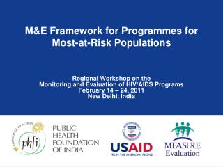 M&E Framework for Programmes for Most-at-Risk Populations