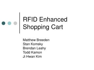 RFID Enhanced Shopping Cart