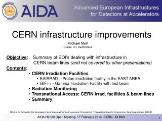 CERN infrastructure  improvements