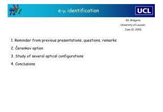 e- m  identification