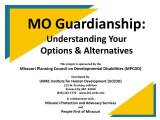 MO Guardianship: Understanding Your Options  Alternatives