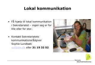 Lokal kommunikation