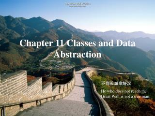 Chapter 11 Classes and Data Abstraction