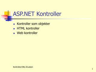 ASP.NET Kontroller