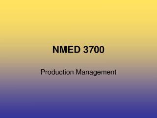 NMED 3700