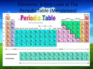 Elements: A First Look at The Periodic Table (Mendeleev) ‏