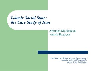 Islamic Social State:  the Case Study of Iran