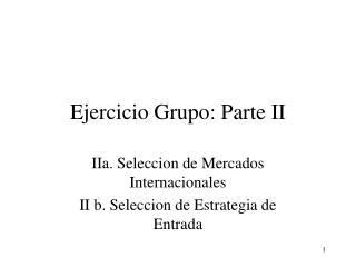 Ejercicio Grupo: Parte II